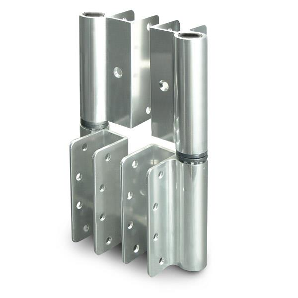 HINGEALUMINUMWRAPLHIN BD Toilet Partition Hardware Jacknob - Bathroom partition hinges